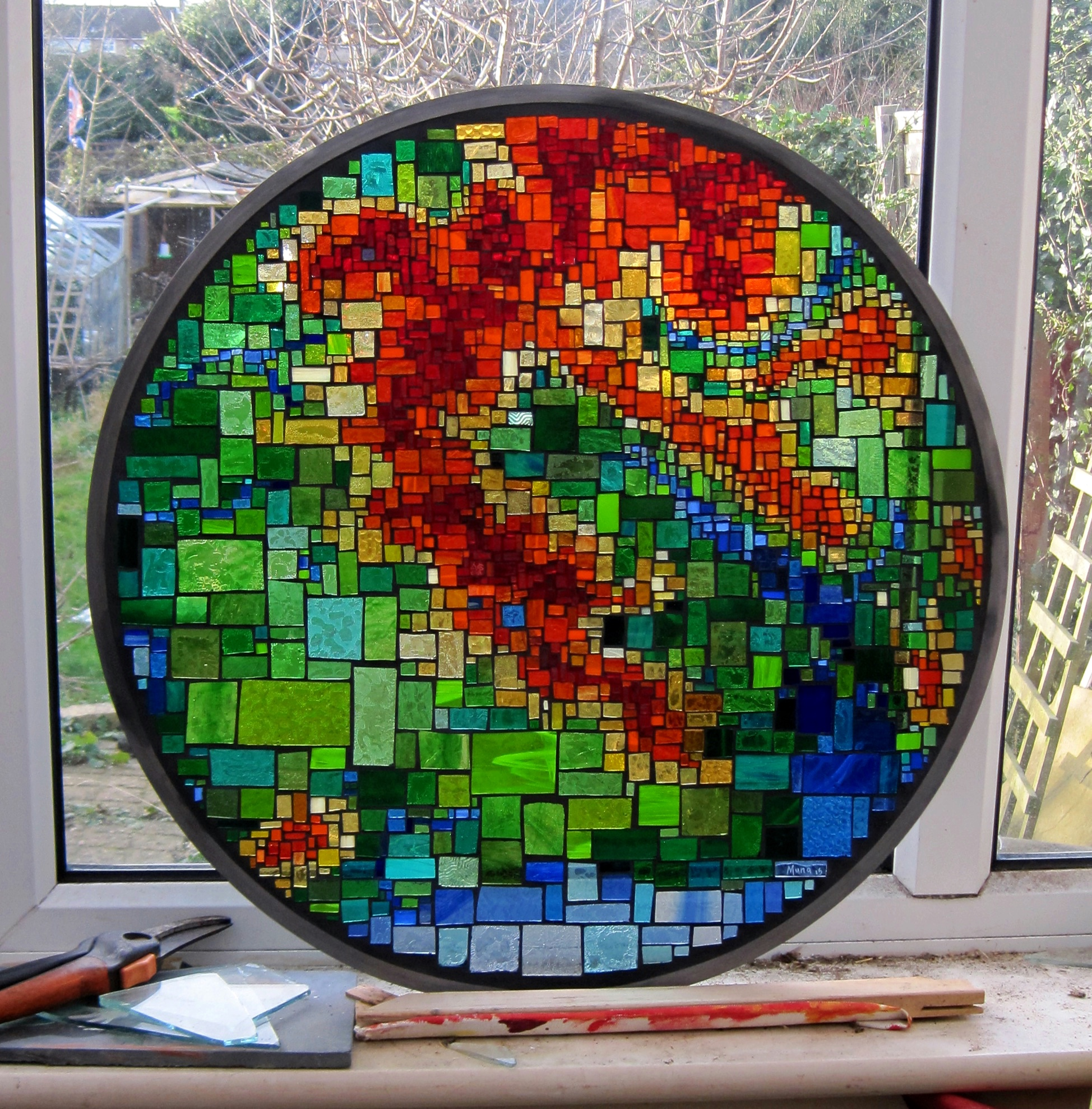 Cullin Hills stained glass mosaiic window