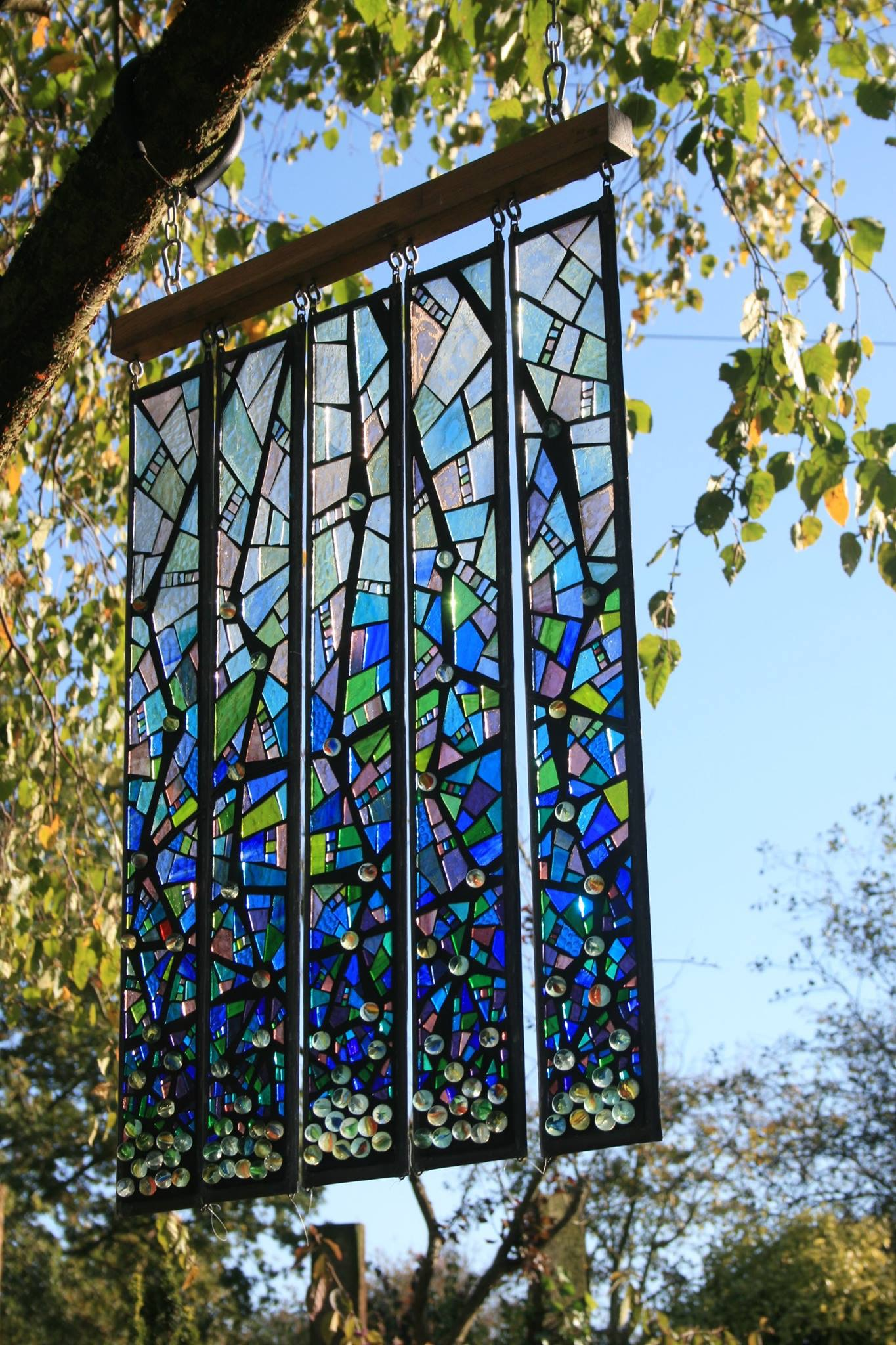 Decision Tree - stained glass mosaic. Installation view.