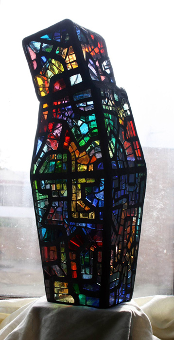 Little Man Looking - 3D stained glass mosaic