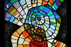 Venn Diagram. Stained glass mosaic.