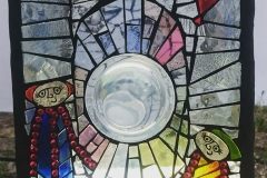 Detail - Town Centre - stained glass mosaic sculpture