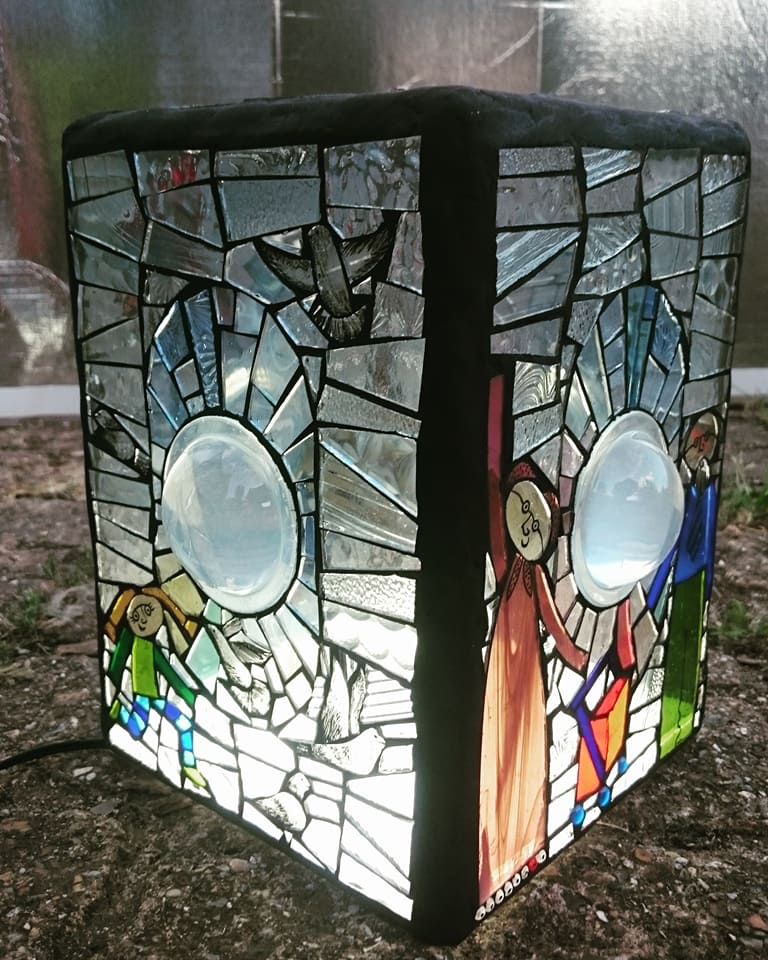 Town Centre - stained glass mosaic sculpture