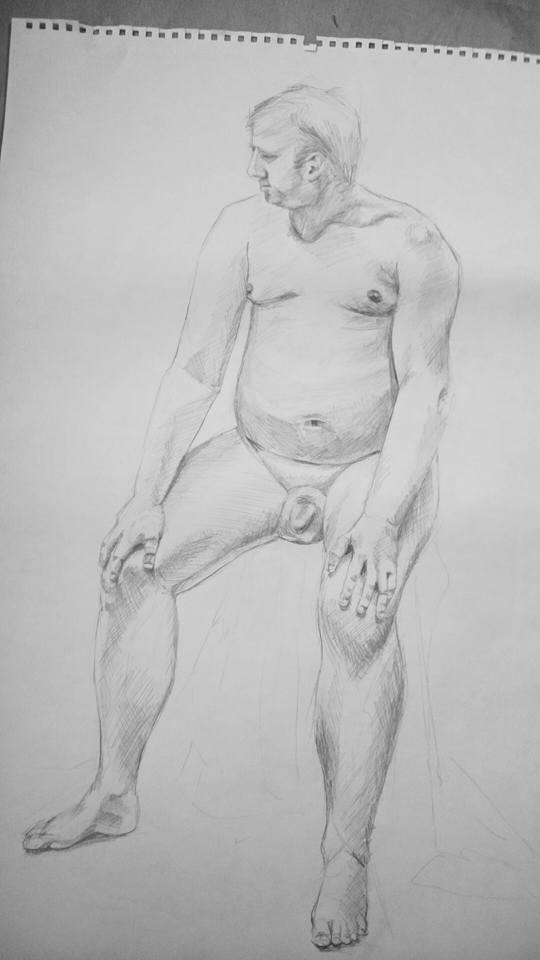 Life Drawing - seated male figure