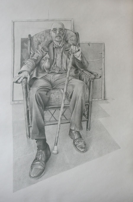 Portrait of the artist, Alan Slater