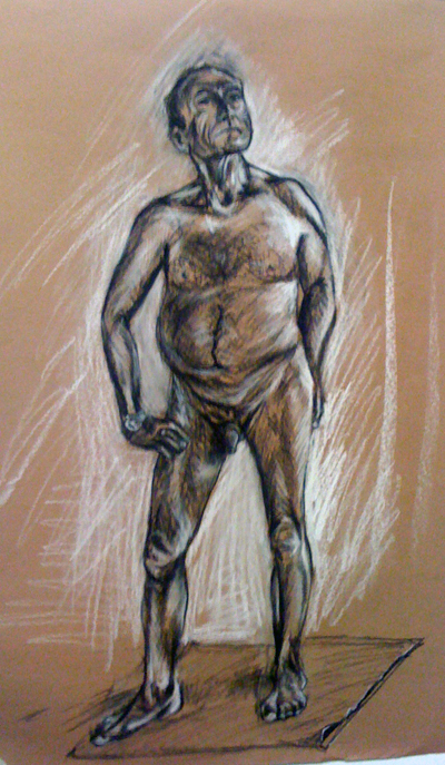 Life drawing - proud naked man