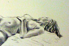 Life drawing - elegant reclining pose