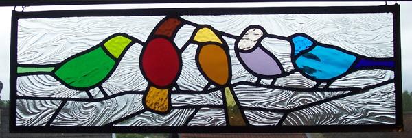 Birds free hanging panel