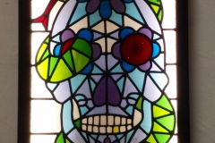 Tattoo skull leaded light box