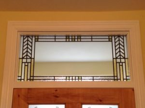 Frank Lloyd Wright inspired transom panel
