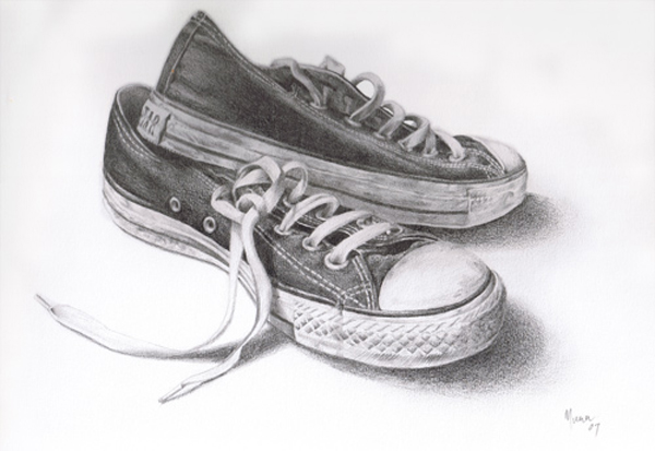 Knackered Converse by Muna Zuberi